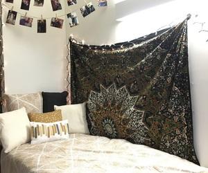 christmas lights, decor, and dorm image