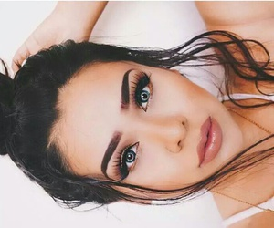 eyebrows, goals, and make up image