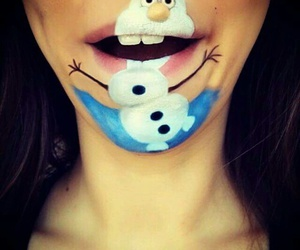 frozen, olaf, and makeup image