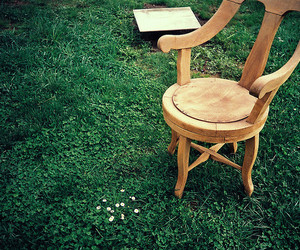 chair, grass, and photography image