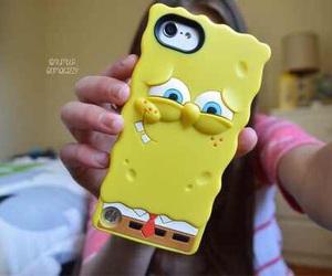 spongebob, yellow, and iphone image