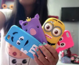 minions, cover, and iphone image