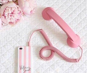 pink, phone, and iphone image