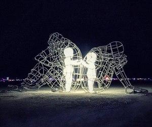 art, child, and light image