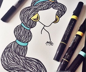 aladdin, art, and draw image