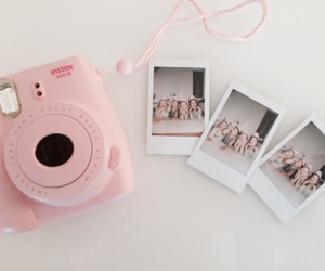 polaroid, pink, and friends image