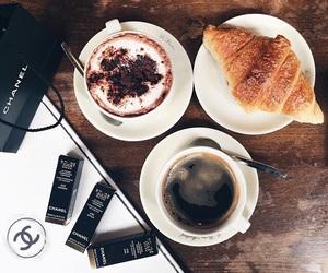 coffee, chanel, and food image