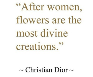 dior, flower, and quote image