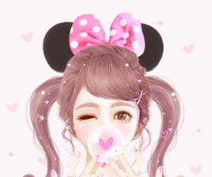 cute, Enakei, and pink image