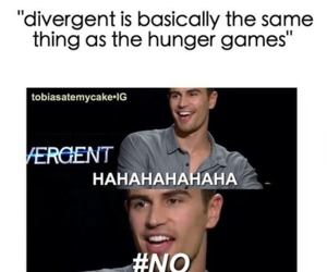 divergent, the hunger games, and insurgent image