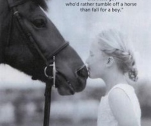 horse, girl, and quote image