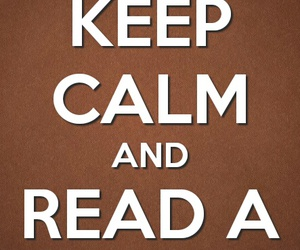book, read, and keep calm and image