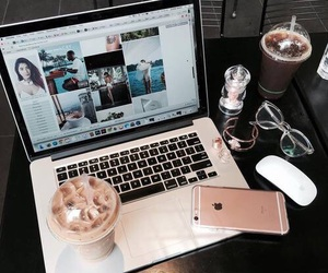 coffee, goals, and iphone image