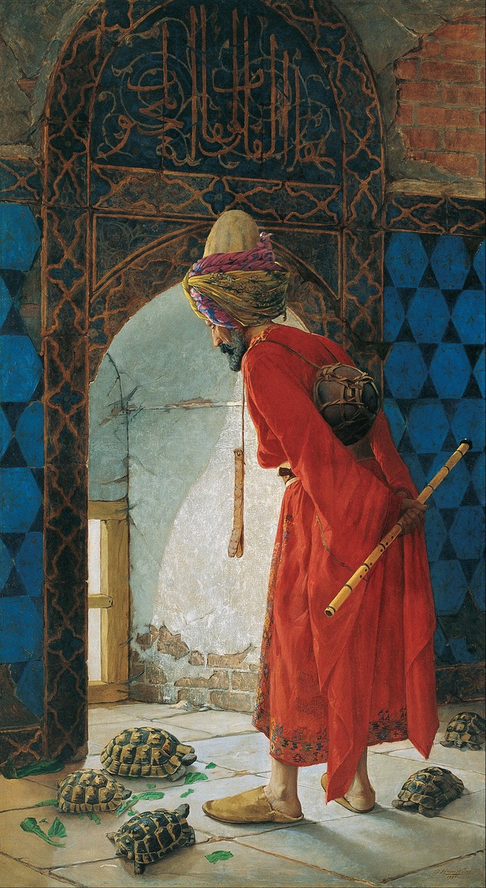 1900, osman hamdi bey, and the tortoise trainer image