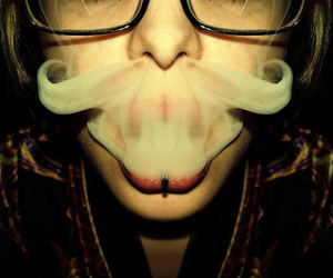 smoke, mustache, and moustache image