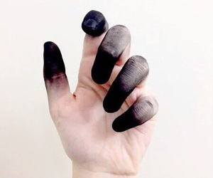 hand and black image