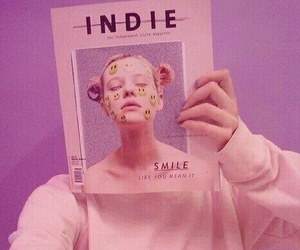 pink, indie, and grunge image