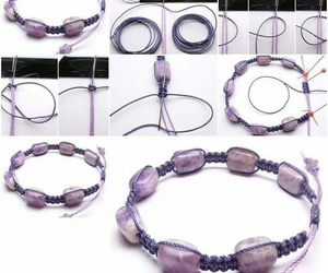 bracelet, hand-made, and tutorial image