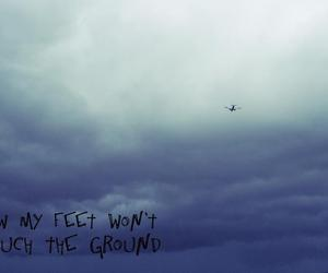 airplane, clouds, and coldplay image