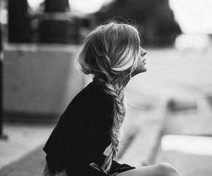 braid, hairstyle, and long image