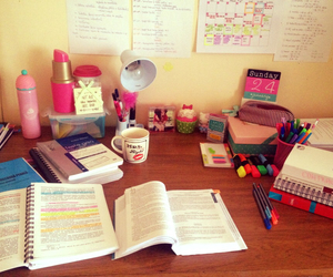 books, colors, and school image