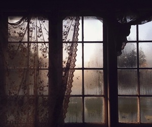 window, dark, and rain image
