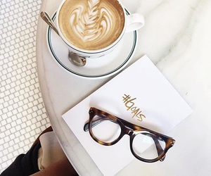 coffee, glasses, and goals image