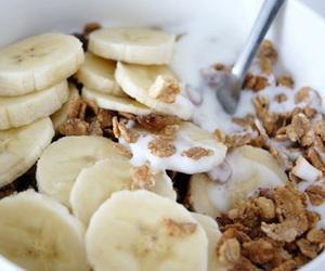 food, banana, and breakfast image
