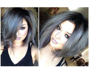 hair, short, and black image