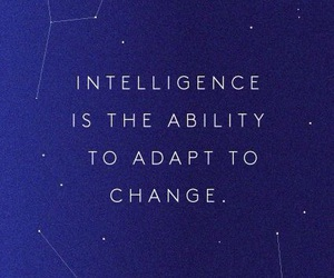 quotes, change, and intelligence image