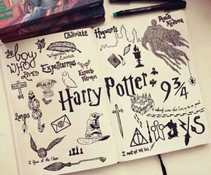 diary, harry potter, and painting image