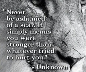 quotes, scars, and strong image