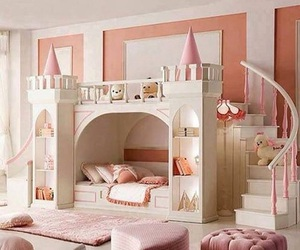 pink, princess, and bedroom image
