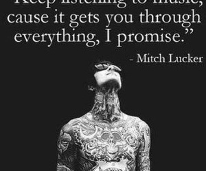 mitch lucker, music, and quotes image