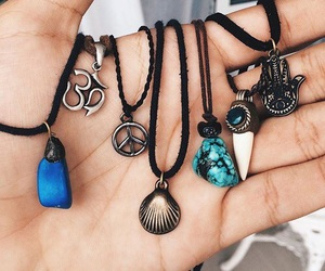 necklace, blue, and grunge image