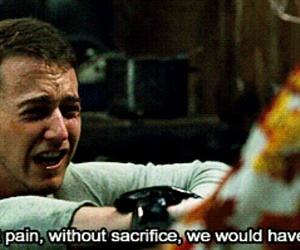 fight club, gif, and pain image