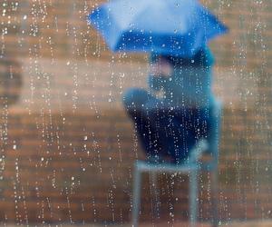 blue, rain, and umbrella image