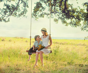 family, mother, and swing image