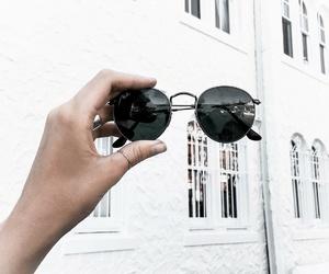 fashion, sunglasses, and white image