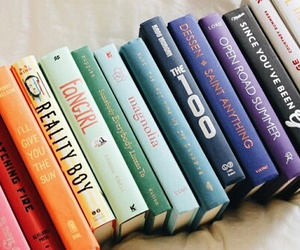 book, colors, and fangirl image