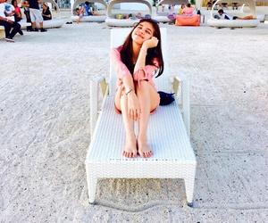 beach, maine mendoza, and cute image