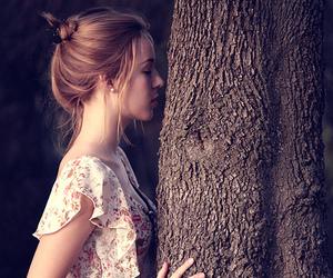 girl and tree image