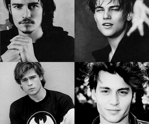 brad pitt, johnny depp, and leonardo dicaprio image
