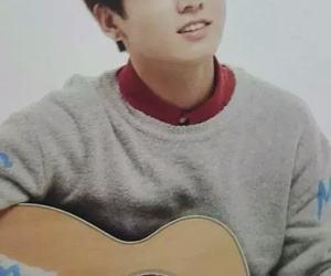 guitar, jeonjungkook, and handsome image