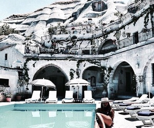summer, travel, and pool image