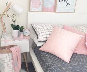 grid, pink, and pink room image