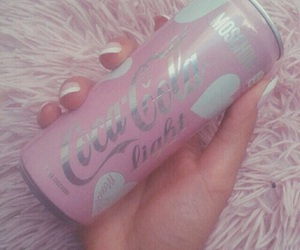 pink, coca cola, and coca-cola image