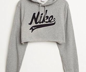 crop, jumper, and nike image
