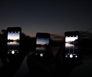 grunge, iphone, and night image