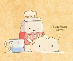 cute, love, and flour image